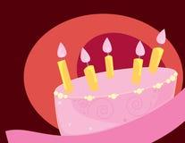 De cake enige laag van de verjaardag vector illustratie