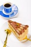 De cake, Kaffe en de champagne van Halva Stock Afbeelding