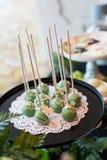 De cake knalt Stock Foto's