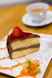 De cake van aardbeivanila Royalty-vrije Stock Foto's