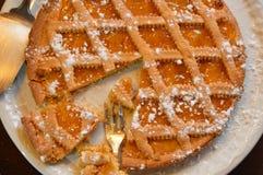 De cake van de abrikozenmarmelade royalty-vrije stock foto's