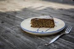 De cake van amandellimoncello Stock Afbeeldingen
