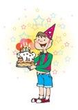 De cake van Bithday Stock Afbeelding