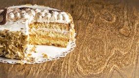 De cake van de bosbessenkaramel Stock Foto