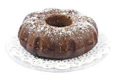 De Cake van Bundt van de chocolade Royalty-vrije Stock Foto's