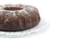 De Cake van Bundt van de chocolade Stock Foto's