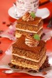 De cake van cappuccino's Stock Foto's