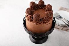 De Cake van de chocoladekoffie stock foto's