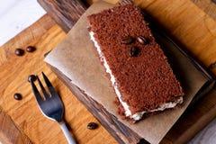 De Cake van de chocolademousse Royalty-vrije Stock Foto's