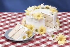De cake van Daisy Stock Fotografie