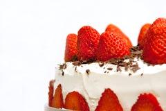 De cake van de aardbei Royalty-vrije Stock Foto