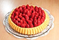De Cake van de aardbei Royalty-vrije Stock Afbeeldingen