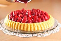 De Cake van de aardbei Stock Fotografie
