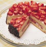 De Cake van de aardbei Stock Foto's