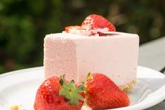 De cake van de aardbeiquark Stock Foto