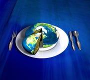 De cake van de aarde - Amerika Stock Afbeelding