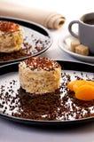 De cake van de abrikoos Stock Fotografie