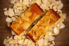 De cake van de amandel. Stock Foto's