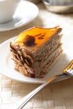 De cake van de amandel stock afbeeldingen