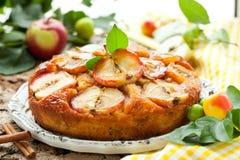De cake van de appel Stock Foto's