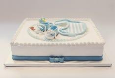 De cake van de babyverjaardag royalty-vrije stock afbeeldingen