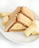 De cake van de banaan Royalty-vrije Stock Foto's