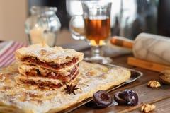 De cake van de bladerdeegpruim Stock Foto