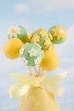 De cake van de bloem knalt Stock Fotografie