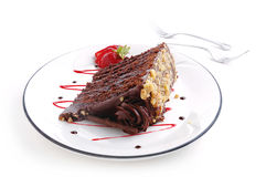 De cake van de chocolade stock foto