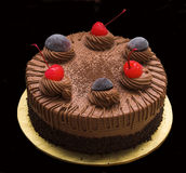De cake van de chocolade royalty-vrije stock afbeeldingen