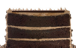 De Cake van de chocolade in de Helft royalty-vrije stock afbeeldingen