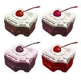 De cake van de chocolade met Kers Isoleer illustratie op achtergrond royalty-vrije illustratie