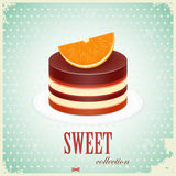 De Cake van de chocolade met Sinaasappel royalty-vrije illustratie