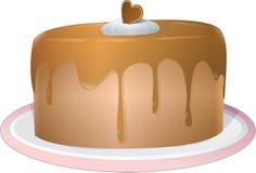De cake van de chocolade met suikerglazuur Stock Foto
