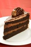 De Cake van de Chocolade van drie Laag Royalty-vrije Stock Afbeelding