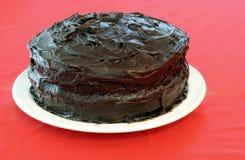 De Cake van de Chocolade van Undecorated Stock Foto