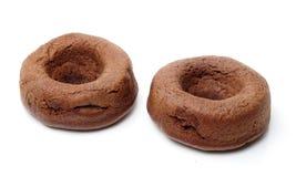 De cake van de chocoladedoughnut Stock Fotografie