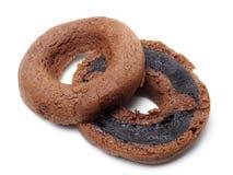 De cake van de chocoladedoughnut Stock Afbeeldingen