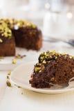 De cake van de chocoladekardemom Stock Foto's