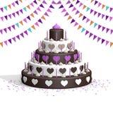 De cake van de chocoladeliefde Royalty-vrije Stock Fotografie