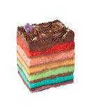 De cake van de chocoladeregenboog Stock Afbeeldingen
