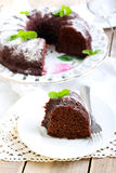 De cake van de chocoladering royalty-vrije stock fotografie