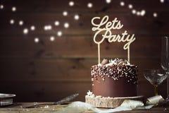 De Cake van de chocoladeviering Royalty-vrije Stock Foto's
