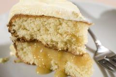 De Cake van de citroen stock foto's