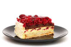 De cake van de framboos Royalty-vrije Stock Foto's