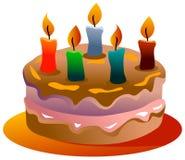 De cake van de geboortedag royalty-vrije illustratie