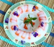 De Cake van de Gelei van de agar-agar royalty-vrije stock foto's