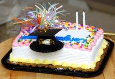 De Cake van de graduatie Stock Afbeelding