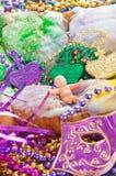 De cake van de graskoning van Mardi Stock Foto