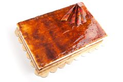 De cake van de karamel royalty-vrije stock foto's